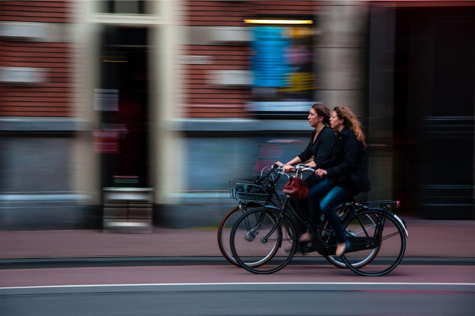 Free stock photo of cyclists bikers