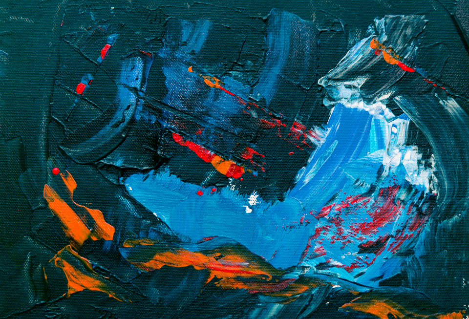 dark abstract painting