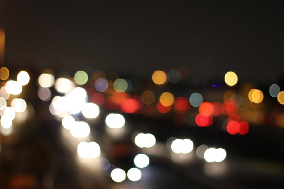 dark night bokeh