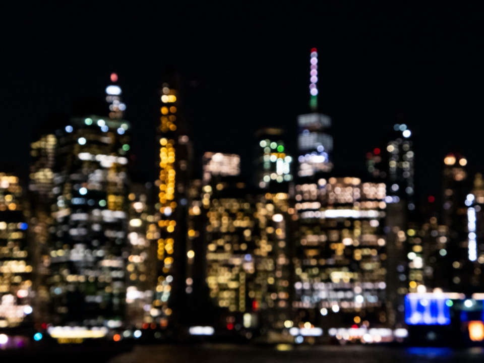 defocused city background