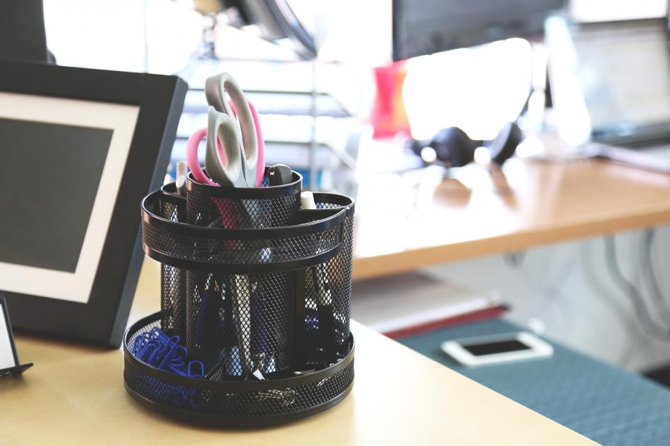 desk office supplies stationary