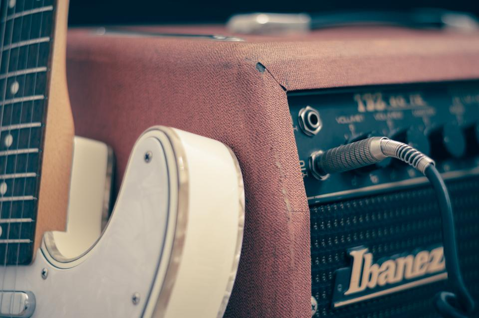 Free stock photo of electric guitar amp