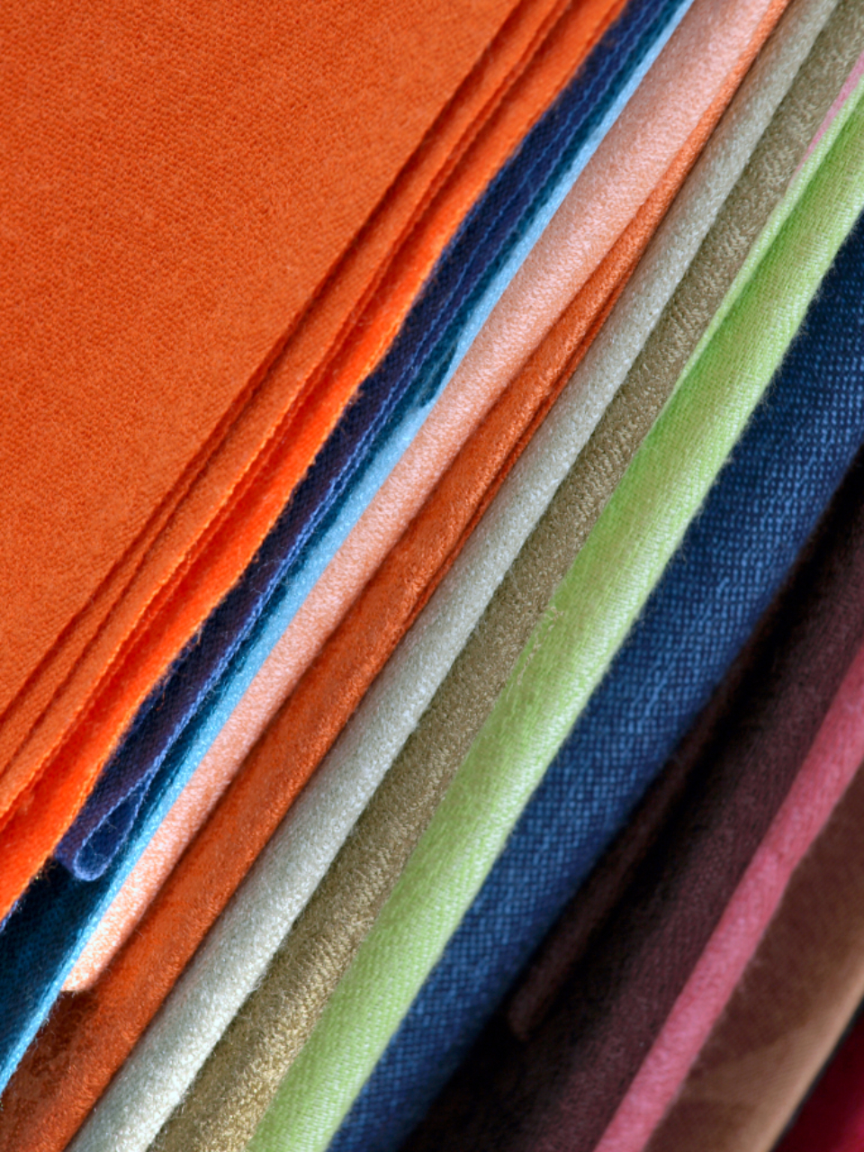 fabric swatches colorful