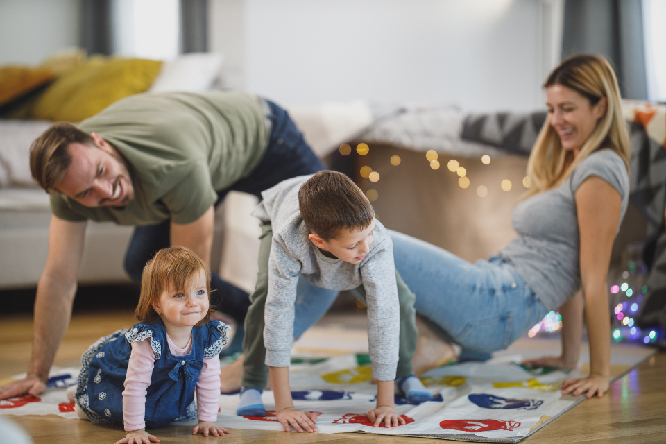 Free stock photo of family playing