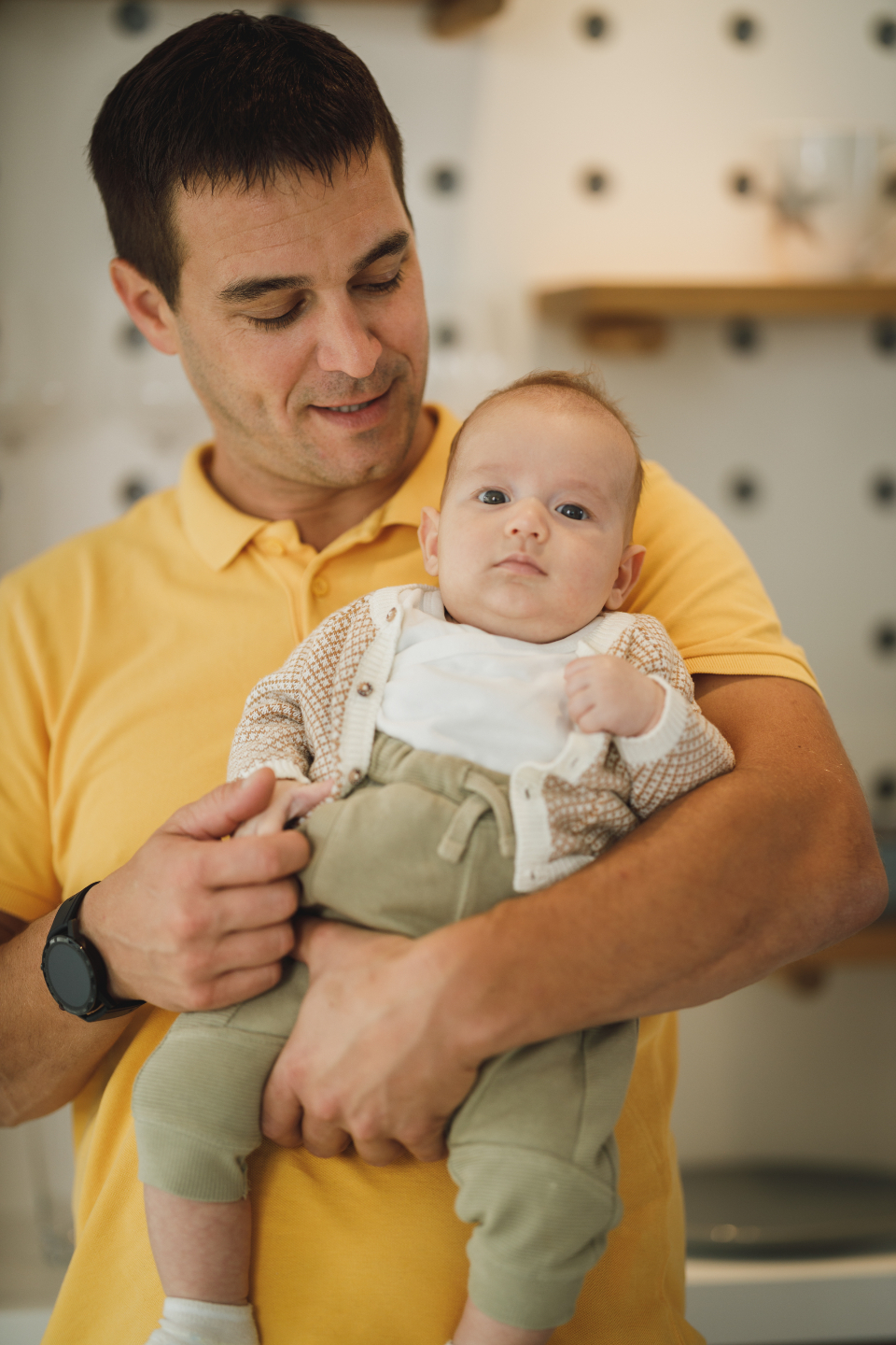 Free stock photo of father baby
