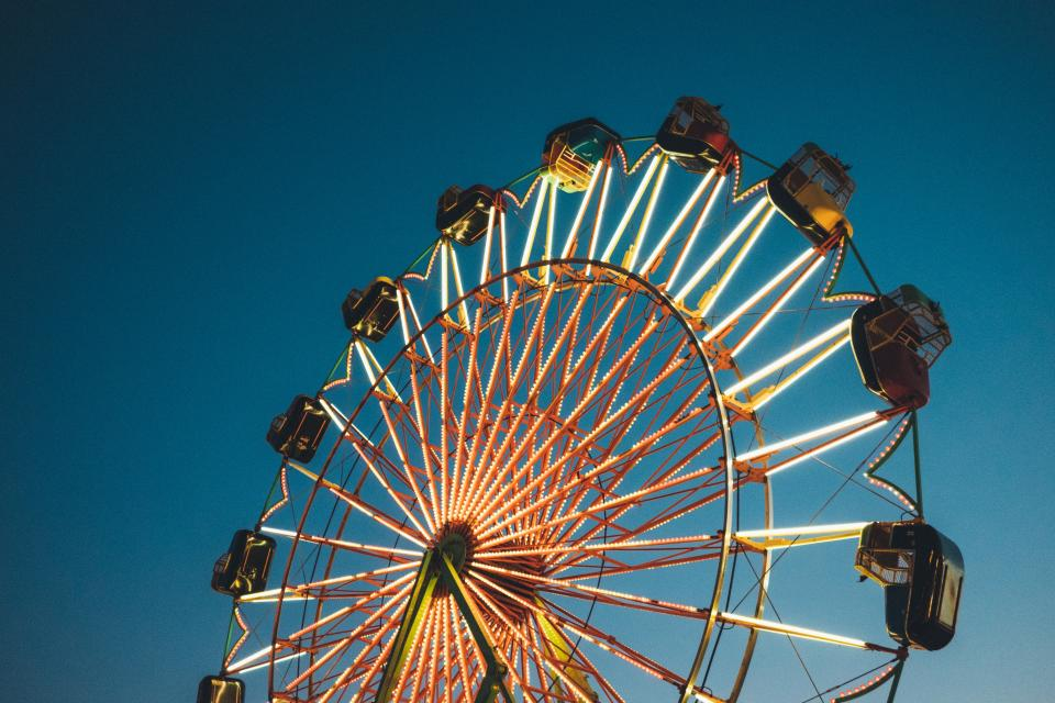 Free stock photo of ferris wheel amusement park