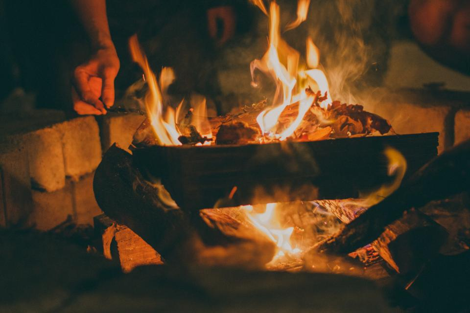 Free stock photo of fire bonfire