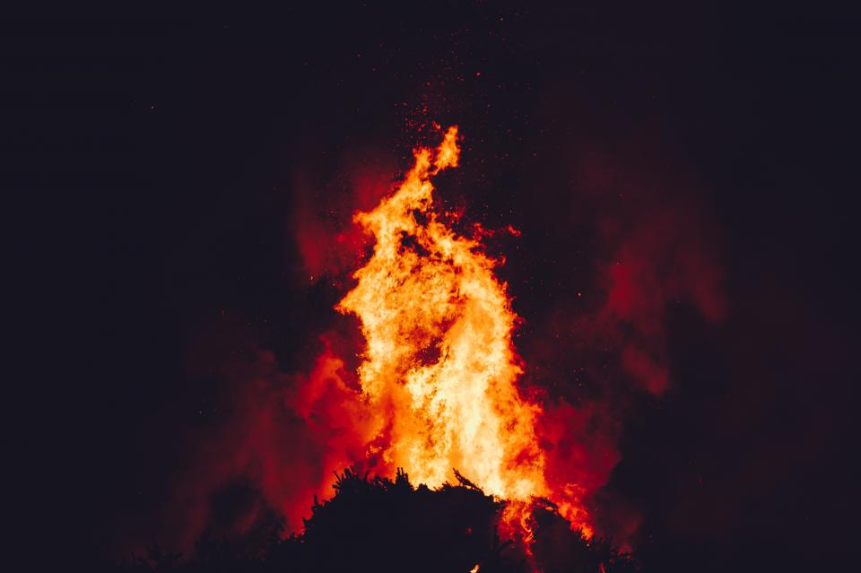 Free stock photo of fire flame