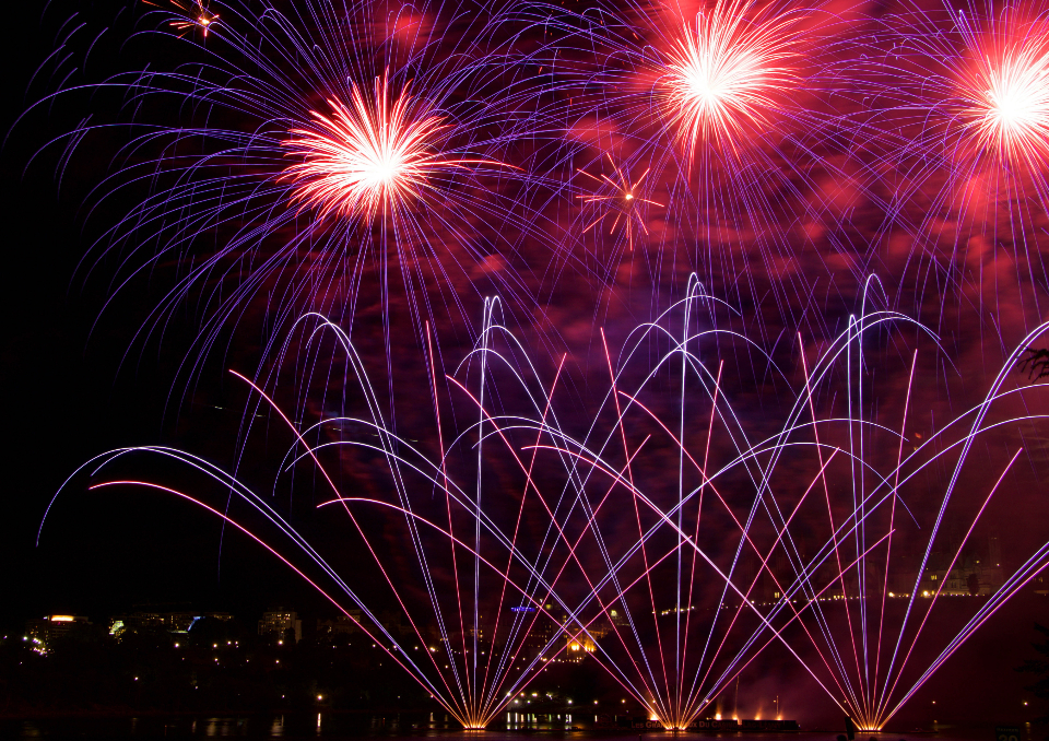fireworks background display
