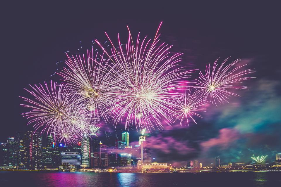 Free stock photo of fireworks lights