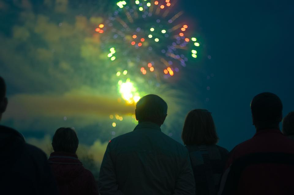 Free stock photo of fireworks night