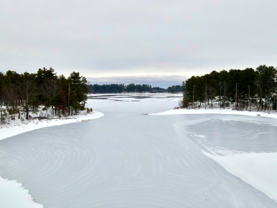 Free stock photo of frozen lake