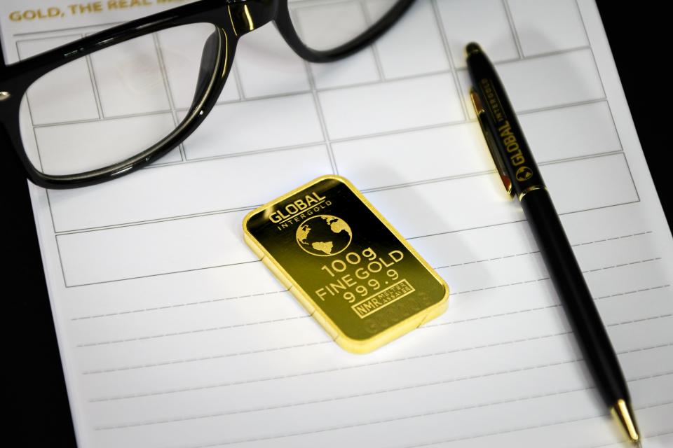 Free stock photo of gold chip
