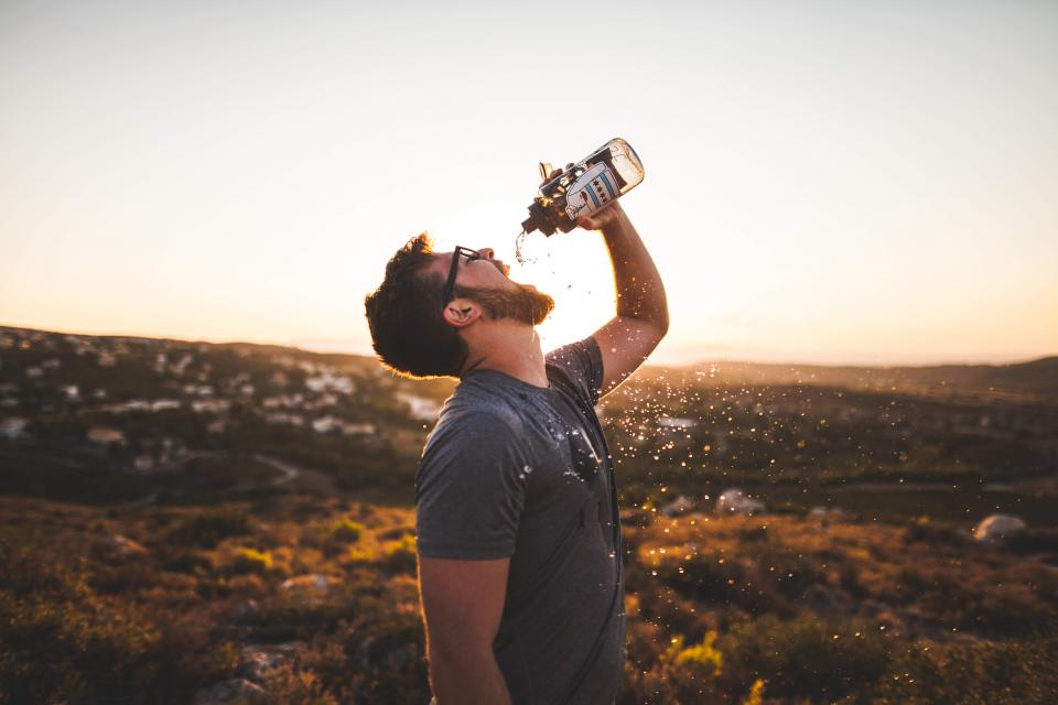 guy man drinking