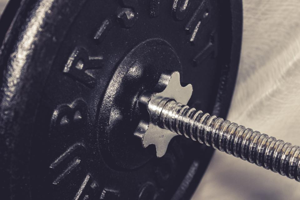 Free stock photo of gym weights