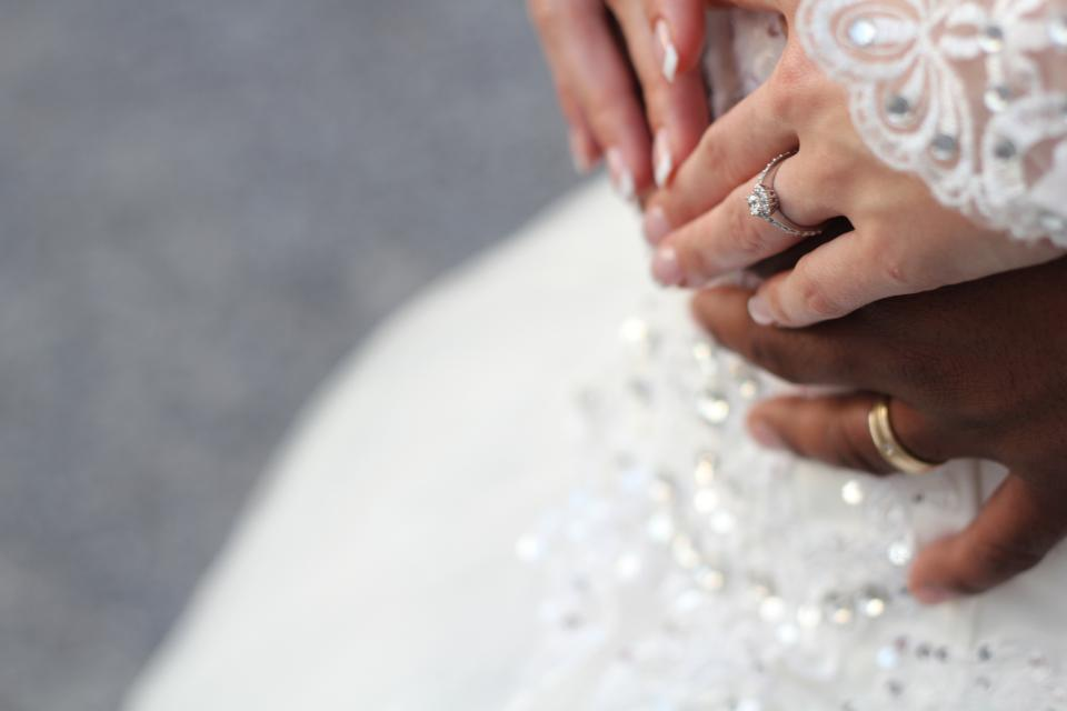 hand couple wedding
