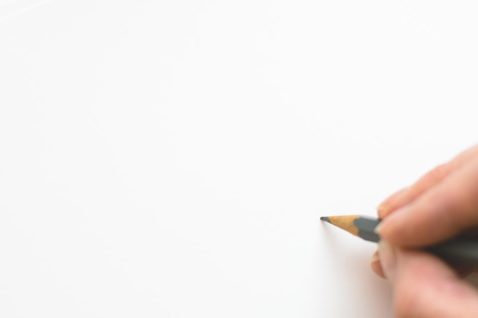 Free stock photo of hand pencil