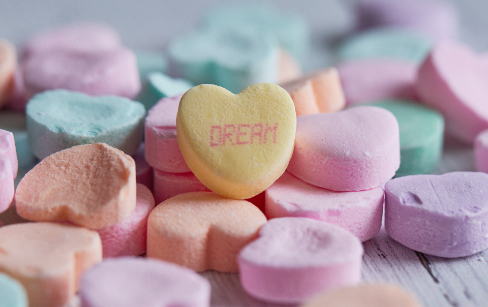 heart candy background