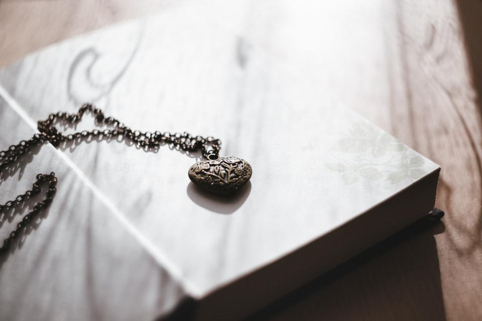 Free stock photo of heart necklace