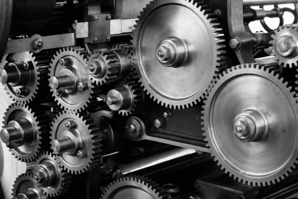 industrial machine gears