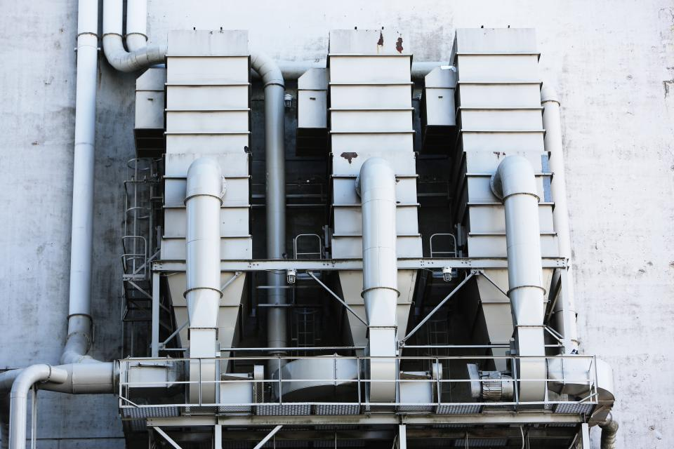 Free stock photo of industrial silos
