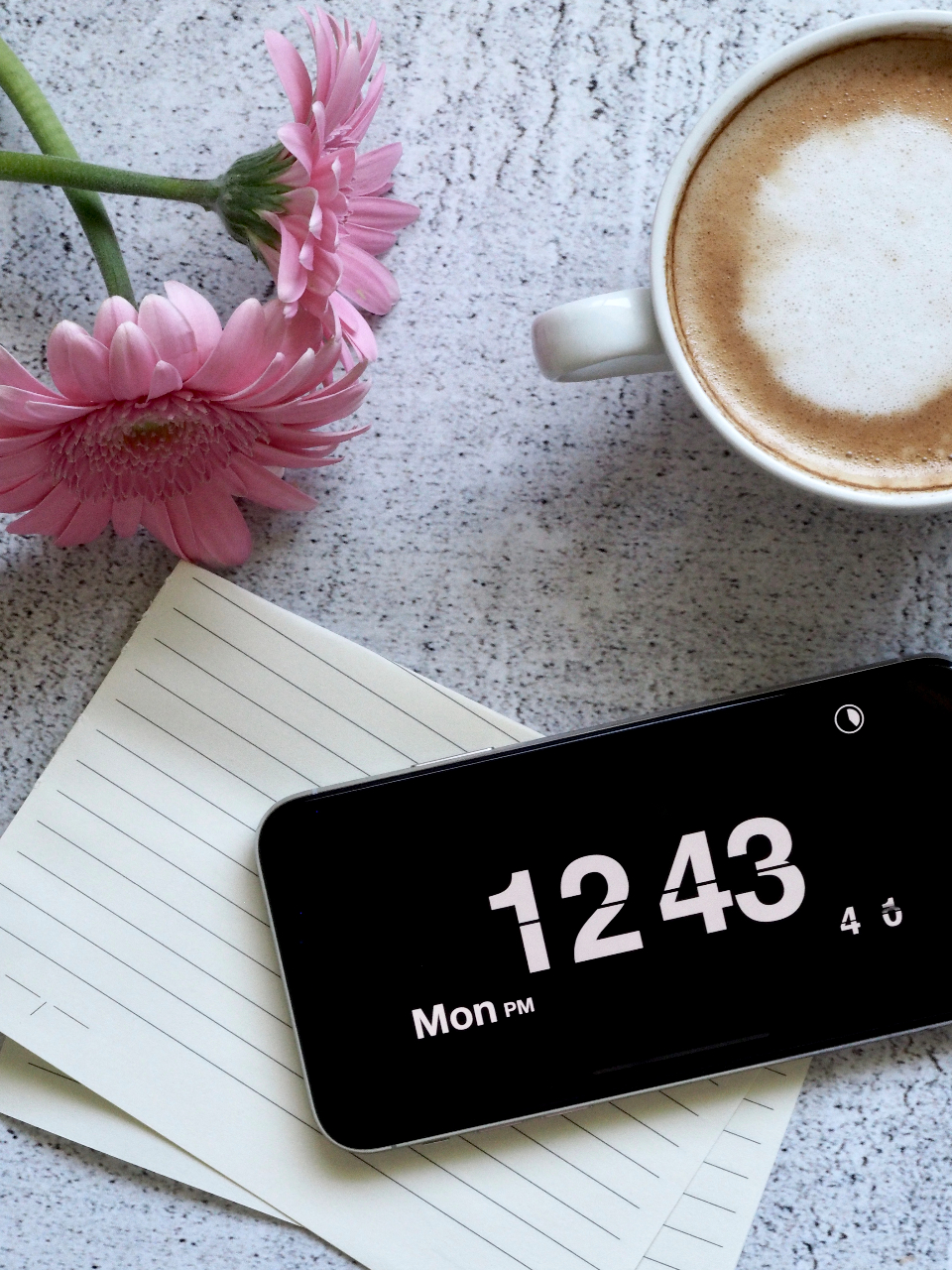 iphone clock table