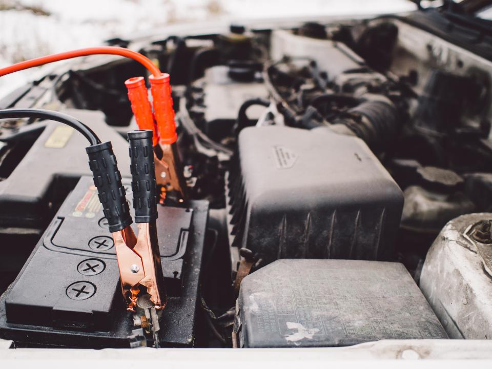 jumper cables battery engine