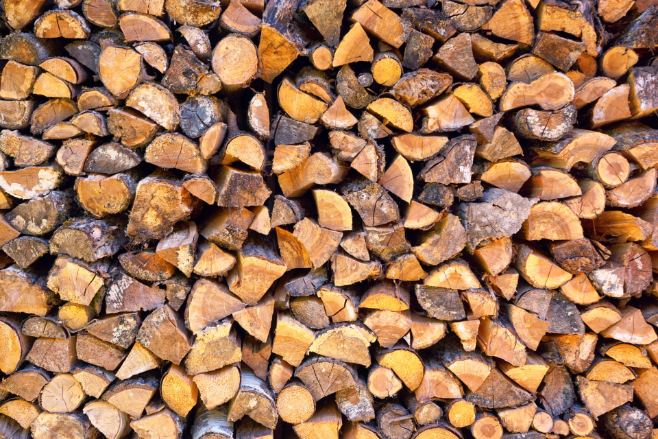 large stack firewood
