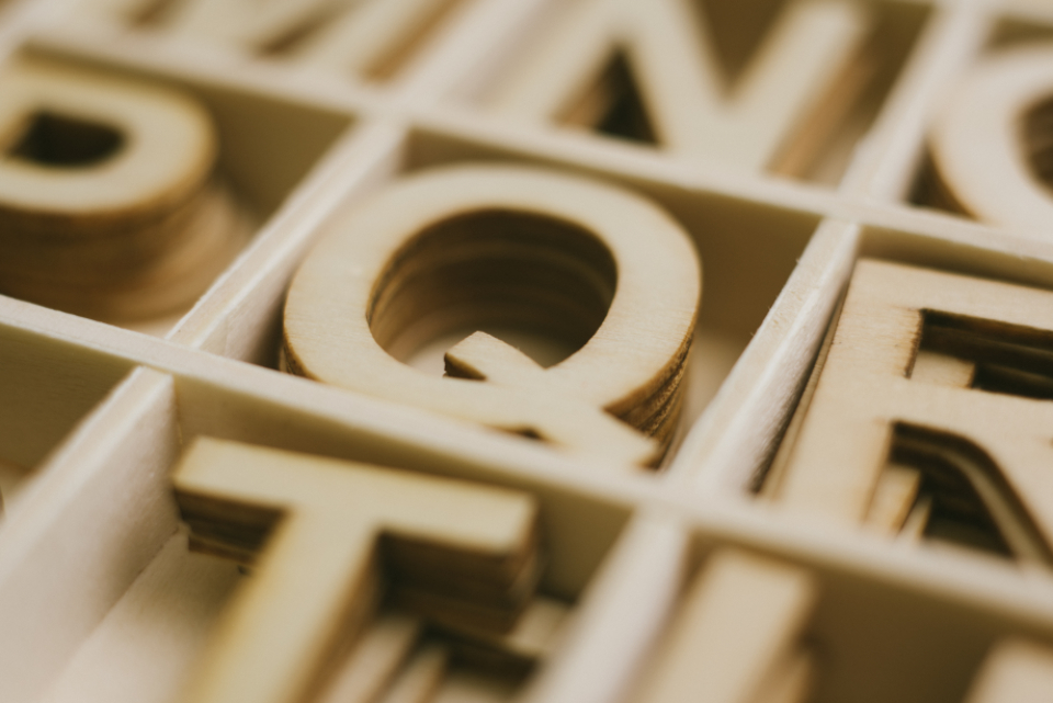 Free stock photo of letters wood