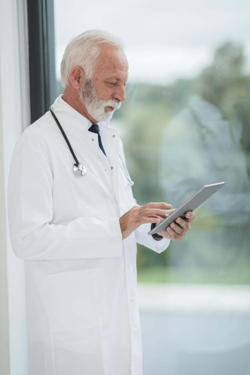 male doctor standing