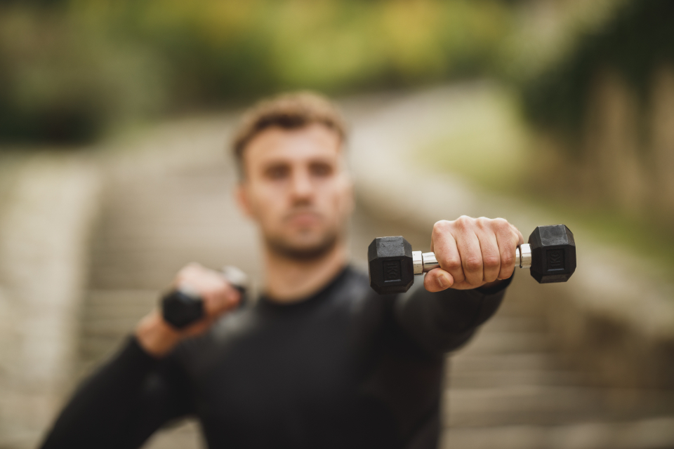 male fitness weights