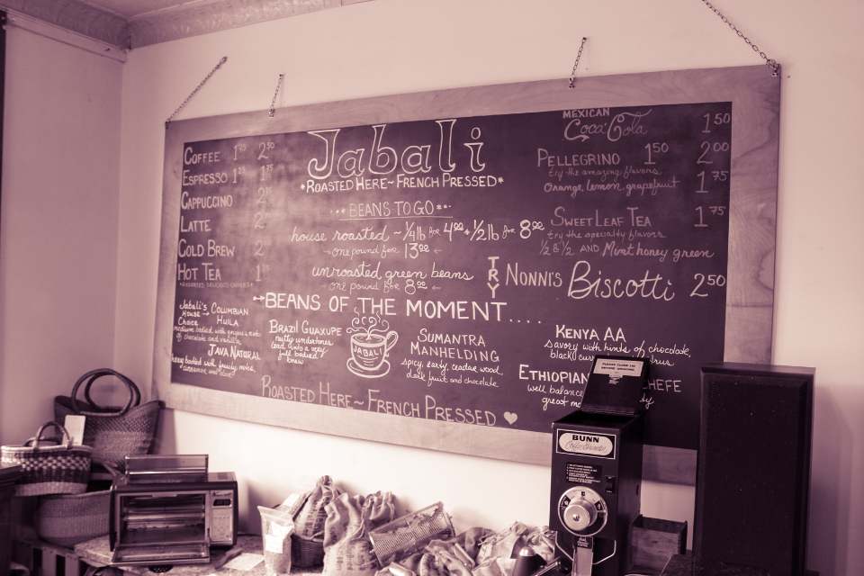 menu chalkboard chalk