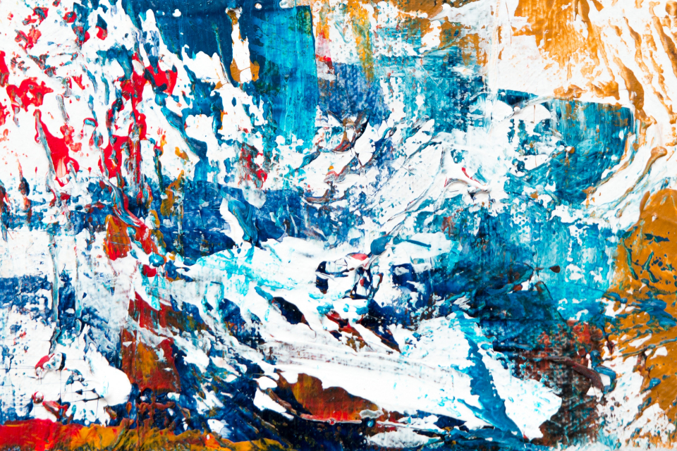 messy abstract painting