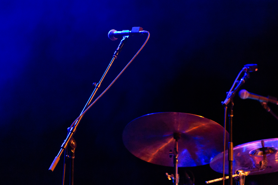 Free stock photo of microphone drums