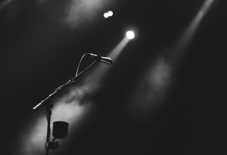 Free stock photo of microphone performance