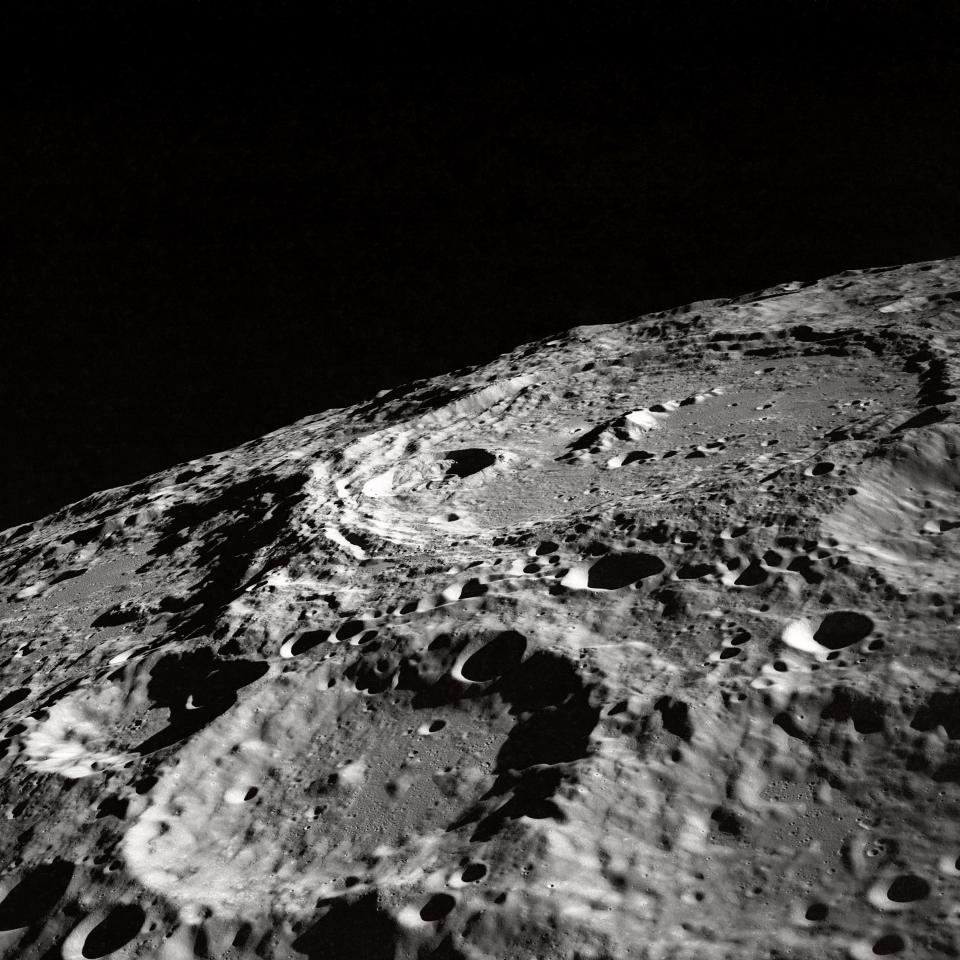 moon rough surface