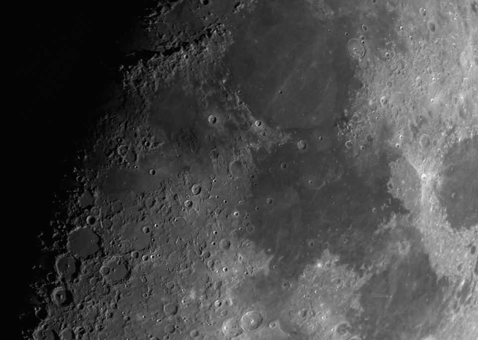 moon surface craters
