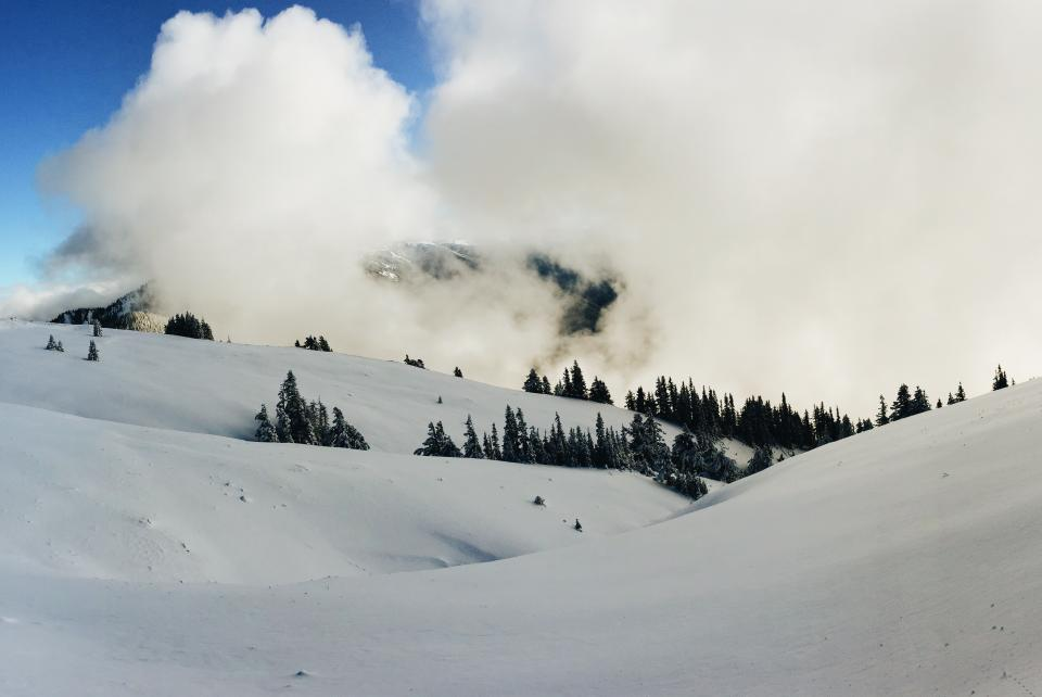 mountain highland clouds