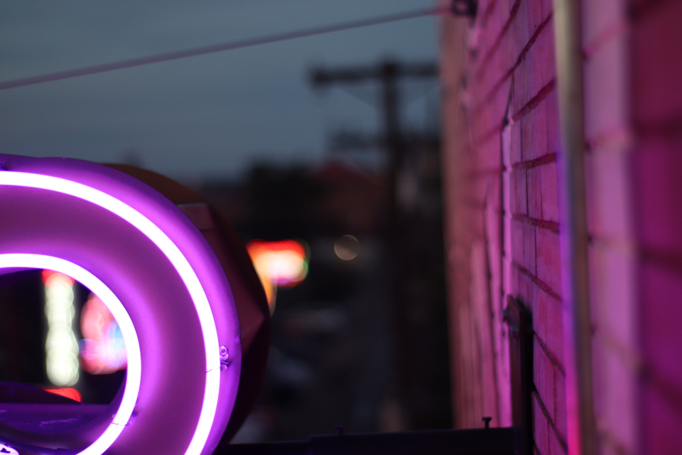 neon sign house