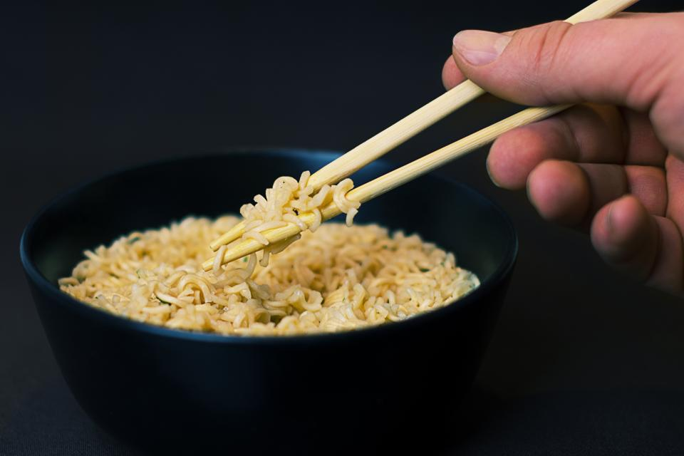 noodles soup chopsticks