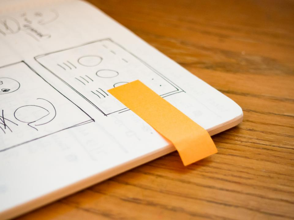 notebook mockups sketch