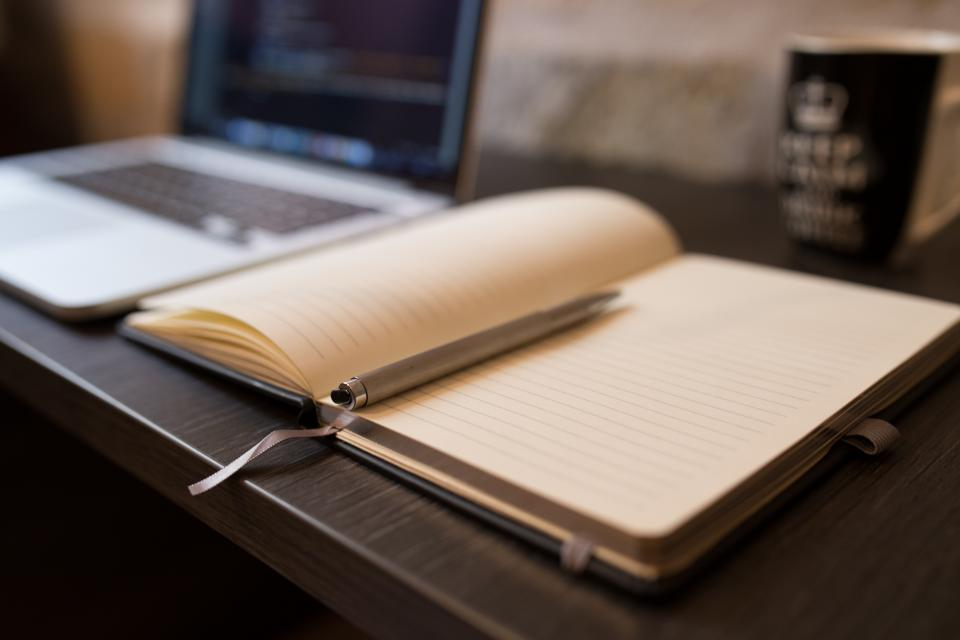 Free stock photo of notebook pen