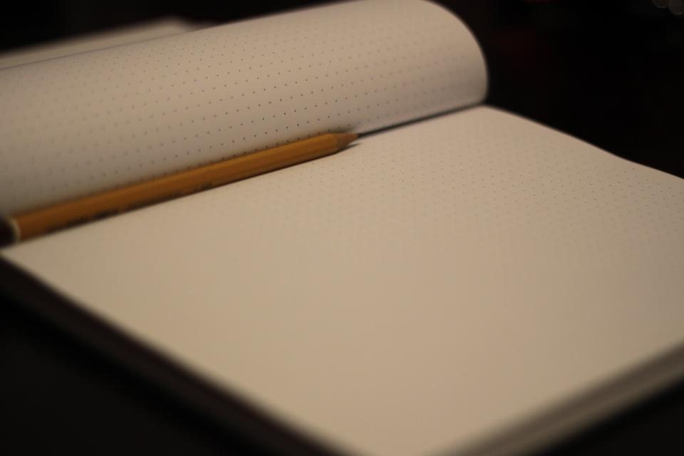 notepad notebook pencil