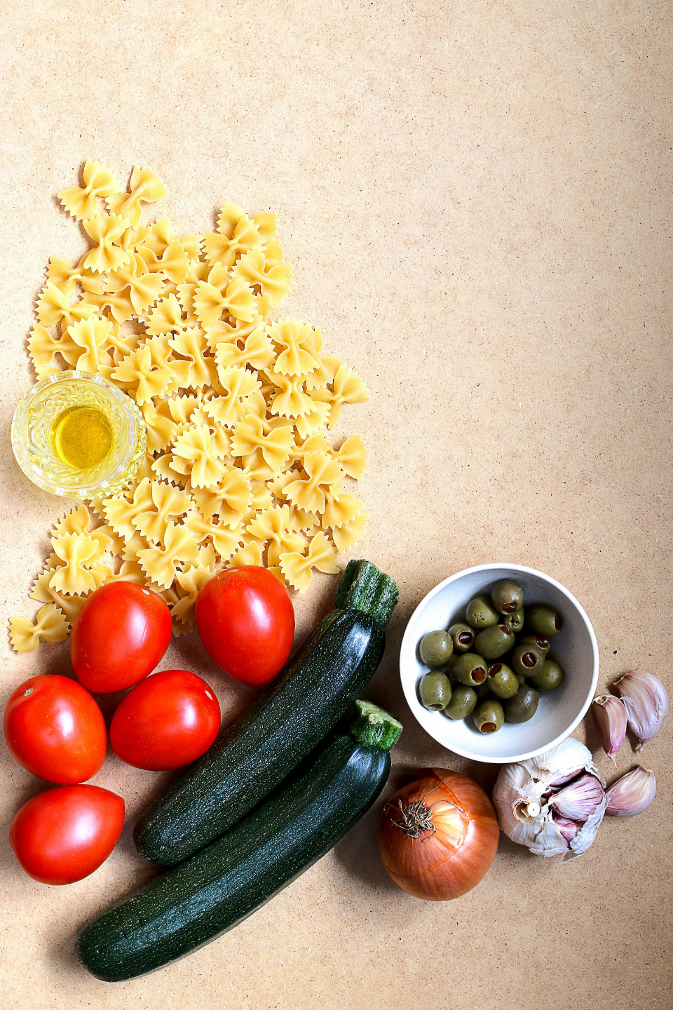 pasta ingredients top