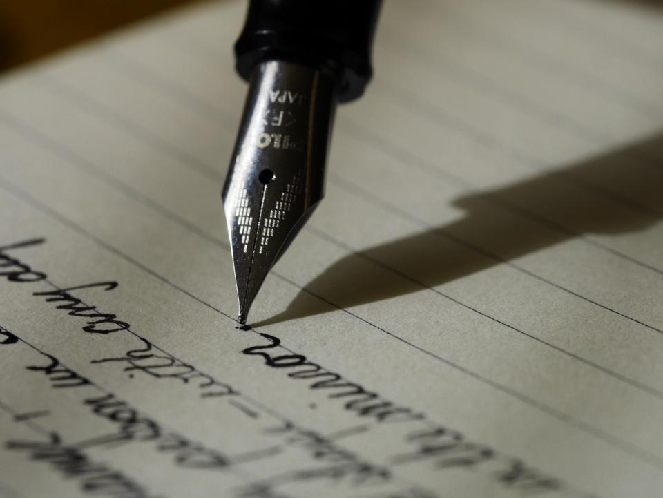 Free stock photo of pen ink