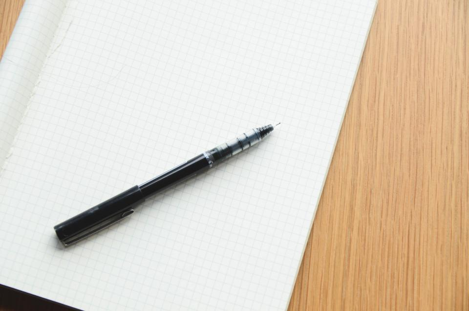 Free stock photo of pen notepad