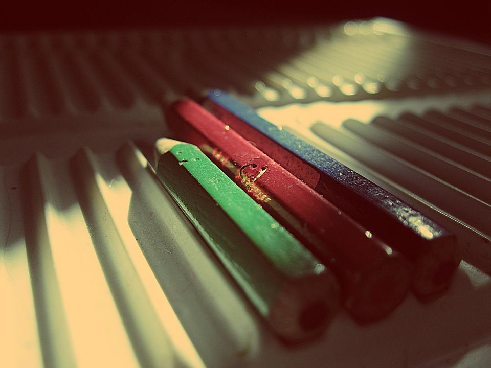Free stock photo of pencils colors