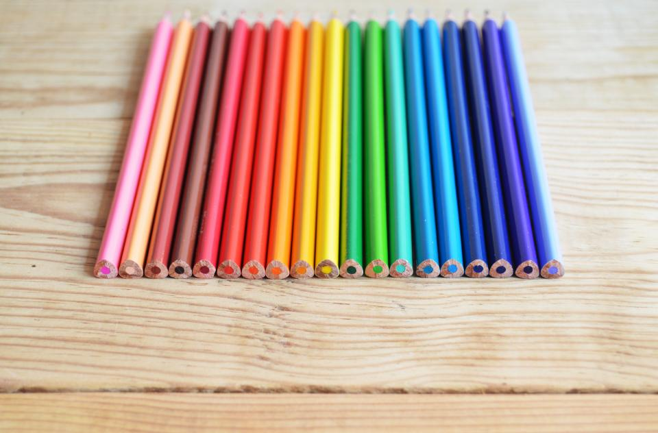 pencils crayons art