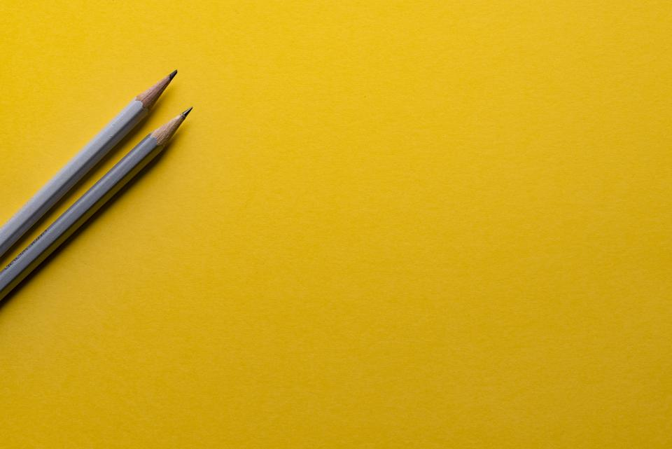 pencils yellow business