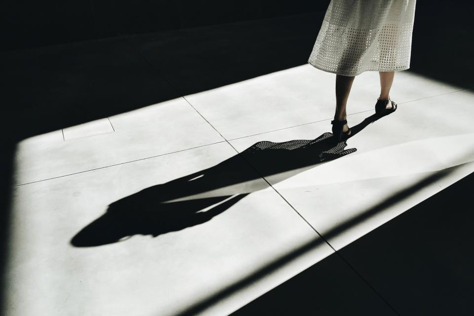 people woman shadow
